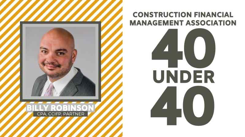 Brown Edwards' Billy Robinson Honored In CFMA Top 40 Under 40 Class