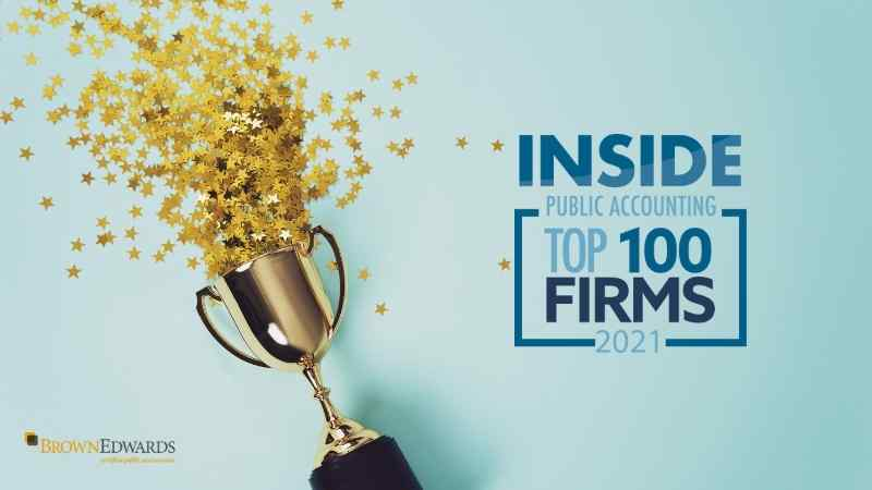 Brown Edwards Ranks 78th on Inside Public Accounting's Top 100 List