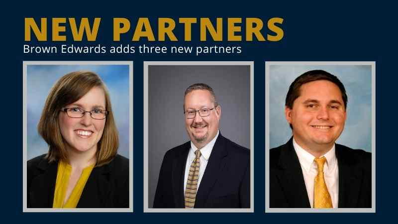 Brown Edwards Promotes Three New Partners